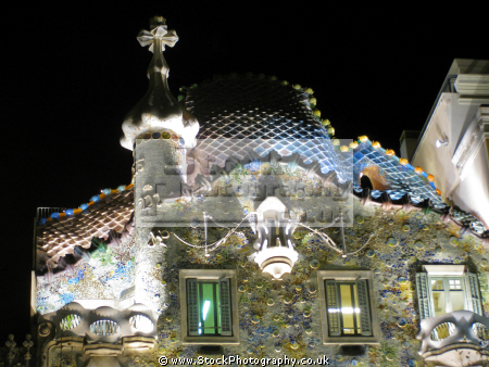 barcelona gaudi casa batll catalunya catalonia spanish espana european espagne espa architecture modernism modernismo mosaic tiled spain spanien la spagna