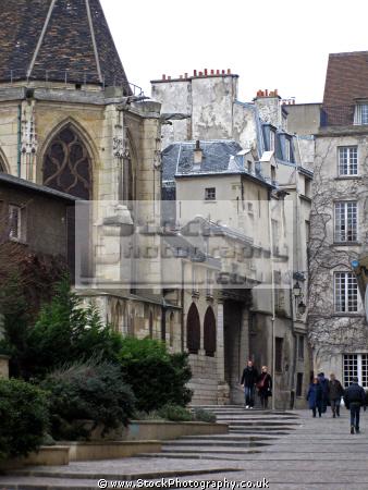 paris church st gervais-st gervais st gervaisst protais rue des barres french buildings european france catholic religious religion eglise parisienne la francia frankreich