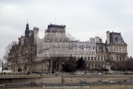 paris tel-de-ville tel de ville teldeville french buildings european france hotel town city hall marie river seine parisienne la francia frankreich