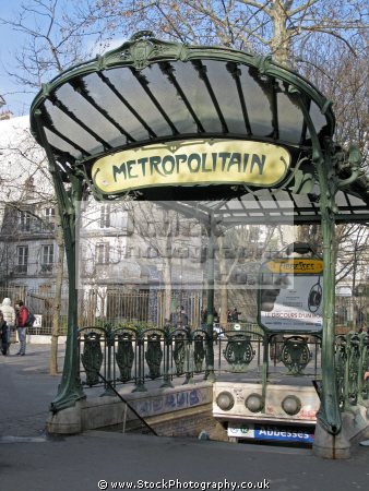 abbesses station paris surviving art nouveau entrance canopies metro french buildings european metropolitain france parisienne underground public transport railway la francia frankreich
