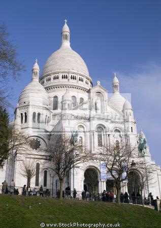 montmartre paris basilique du sacr -coeur french buildings european parisienne france basilica catholic religious eglise church religion sacre coeur la francia frankreich