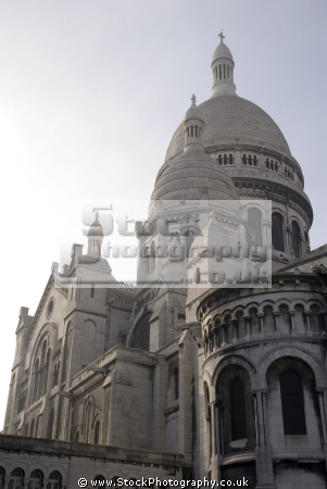 montmartre paris basilique du sacr -coeur french buildings european parisienne france basilica catholic religious eglise church religion sacre coeur la francia frankreich
