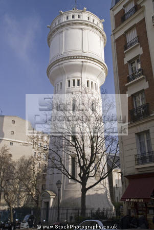 montmartre paris water tower chateau eau rue du mont cenis french buildings european parisienne france place tertre la francia frankreich