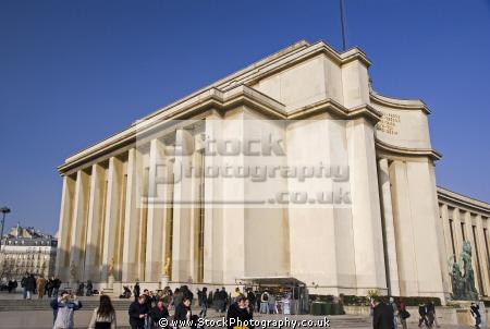 paris wing palais chaillot place du trocad ro french buildings european france parisienne trocadero cit architecture et patrimoine la francia frankreich