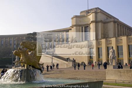 paris passy wing palais chaillot place du trocad ro french buildings european france parisienne trocadero mus homme la francia frankreich