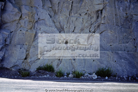 shot blasted wall rock near tioga pass high sierras wilderness dynamite gelignite explosion blasting national park geology earth sciences yosemite california californian united states american