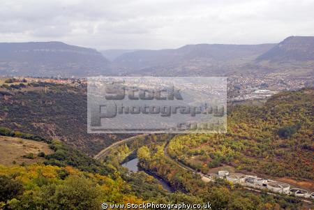 france tarn river gorge millau viaduct french landscapes european midi pyrenees la francia frankreich
