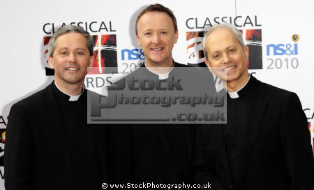 priests classical musical group catholic northern ireland. fr eugene brother martin hagan musicians celebrities celebrity fame famous star white caucasian portraits
