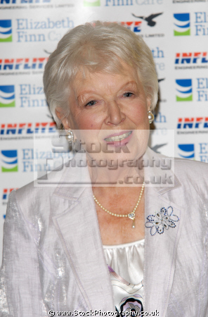 June Whitfield CBE an English actress, well-known in the