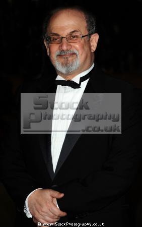 sir ahmed salman rushdie british indian novelist essayist author satanic verses fatwa authors writers writer celebrities celebrity fame famous star fatw ayatollah khomeini islam muslim white caucasian portraits