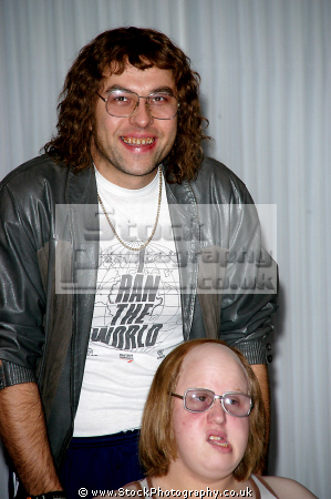 david walliams matt lucas tv sketch little britain english comedians comedic funny laughter humour humor performers celebrities celebrity fame famous star males white caucasian portraits