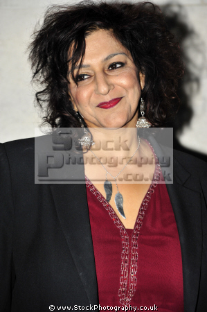 meera syal mbe british asian comedienne writer playwright singer journalist producer actress goodness gracious comediennes comedians performers celebrities celebrity fame famous star asians black ethnic portraits