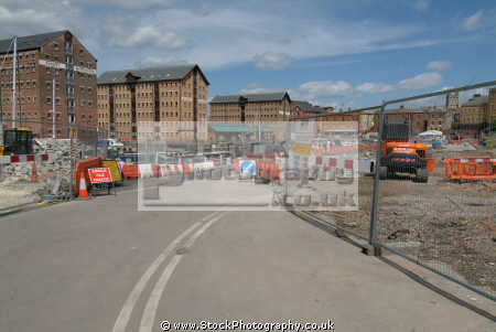 construction work gloucester docks uk coastline coastal environmental gloucestershire england english angleterre inghilterra inglaterra united kingdom british