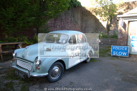 morris minor police car british classic cars vintage motor automobiles transport transportation united kingdom