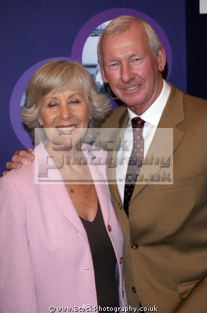bob wilson obe scotland international football goalkeeper later broadcaster wife british tv sports hosts sporting television presenters celebrities celebrity fame famous star males white caucasian portraits