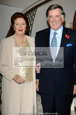 sir terry wogan kbe dl veteran irish radio television broadcaster famous british celebrity couples spouses people fame celebrities star males white caucasian portraits
