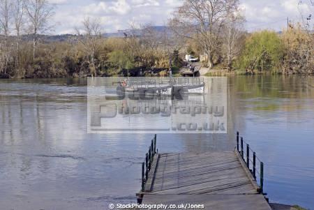 tarragona region spain river ebre ferry miravet catalunya catalonia spanish espana european espagne espa boat bateau costa brava spanien la spagna
