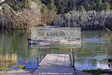 tarragona region spain river ebre ferry miravet catalunya catalonia spanish espana european espagne espa mediaeval fortified reflections costa brava spanien la spagna