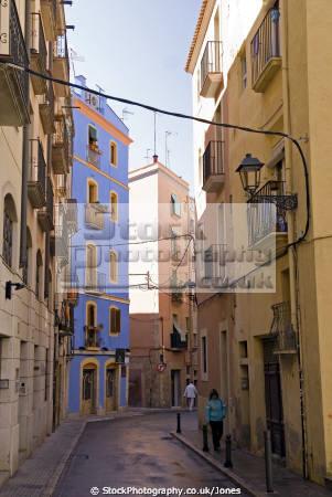 spanish city tarragona narrow streets old walls costa dorada mediterranean catalunya catalonia espana european espagne espa daurada durada brava spain spanien la spagna