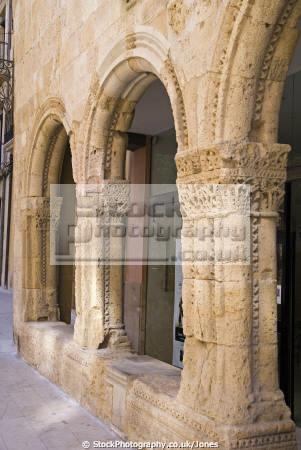 spanish city tarragona mediaeval arches near cathedral costa dorada mediterranean catalunya catalonia espana european espagne espa daurada durada brava spain spanien la spagna