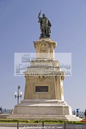 spanish city tarragona rambla nova statue roger lauria costa dorada mediterranean catalunya catalonia espana european espagne espa daurada durada brava spain spanien la spagna