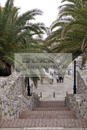 pe iscola spain looking north beach city walls spanish espana european espagne espa bay holiday vacation mediterranean valencia valenciana castell costa del azahar peniscola spanien la spagna