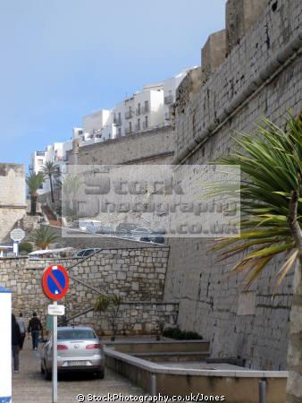 pe iscola spain templar city walls spanish espana european espagne espa bay holiday vacation mediterranean valencia valenciana castell costa del azahar peniscola spanien la spagna