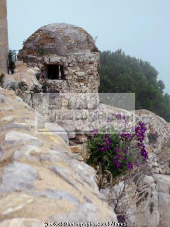 pe iscola spain flowers castle walls spanish espana european espagne espa bay holiday vacation mediterranean valencia castell costa del azahar religious catholic peniscola valenciana spanien la spagna