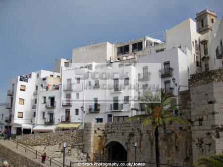 pe iscola spain old town templar fortifications spanish espana european espagne espa bay holiday vacation mediterranean valencia castell costa del azahar valenciana peniscola spanien la spagna