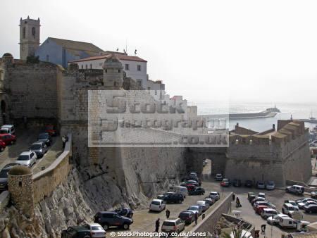 pe iscola spain templar fortifications spanish espana european espagne espa bay holiday vacation mediterranean valencia castell costa del azahar valenciana peniscola spanien la spagna