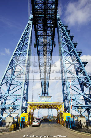 transporter bridge middlesbrough teesside uk bridges rivers waterways countryside rural environmental cars yorkshire england english angleterre inghilterra inglaterra united kingdom british