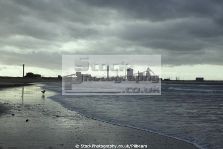 redcar steelworks viewed beach uk industrial buildings british architecture architectural teesside yorkshire england english angleterre inghilterra inglaterra united kingdom