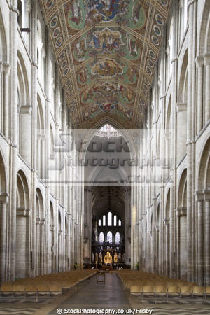interior medieval ely cathedral cambridgshire england uk cathedrals worship religion christian british architecture architectural buildings cambridge cambridgeshire city nave norfolk norman home counties english angleterre inghilterra inglaterra united kingdom