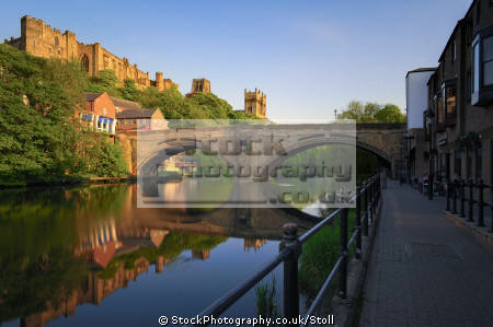 framwellgate bride river wear durham north east england british architecture architectural buildings bridges stone castle historic towns english angleterre inghilterra inglaterra united kingdom
