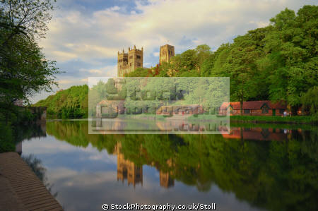 river wear towers durham cathedral countryside rural environmental boathouses reflections waterways england english angleterre inghilterra inglaterra united kingdom british