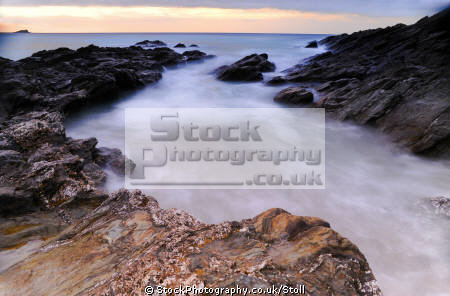 fristral beach coast newquay cornwall uk coastline coastal environmental atlantic ocean sea water sunset light cornish england english angleterre inghilterra inglaterra united kingdom british