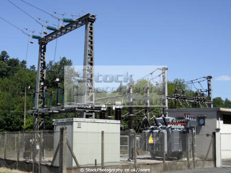 limousin france electrical transformers railway line gare estivaux gorges la energy science correze corr ze french sncf rail transport transmission high tension current voltage electricity substation sub station conductors insulators francia frankreich
