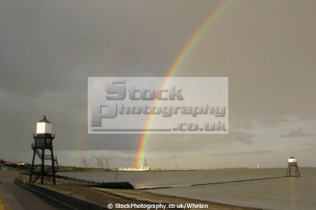 rainbow harwich historic lighthouses sky natural history nature essex england english angleterre inghilterra inglaterra united kingdom british