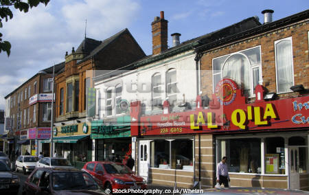 rusholme curry mile district south manchester famous asian population uk high streets towns environmental england english angleterre inghilterra inglaterra united kingdom british