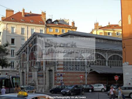 halles ste claire grenoble french buildings european france alpine mountains rh ne alpes town city market sainte march la francia frankreich