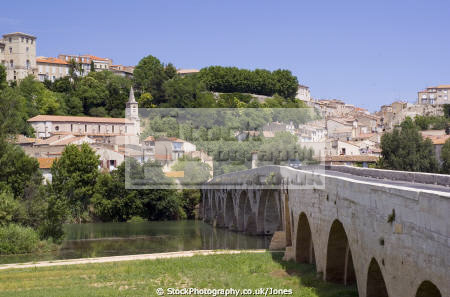 languedoc france pont vieux river orb ziers french buildings european herault rault roussillon la francia frankreich