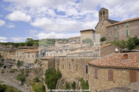 languedoc france village minerve french landscapes european herault rault plus beaux villages bridge roussillon la francia frankreich