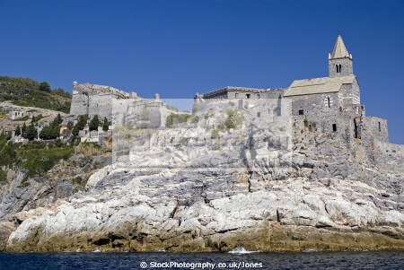 portovenere italy castello monastery chiesa di pietro liguria italian european italia riviera cinque terre mediterranean castle fort italien italie