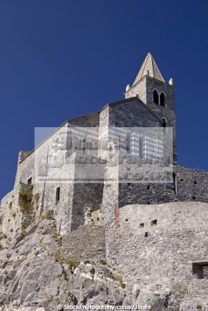 portovenere italy monastery chiesa di pietro liguria italian european italia riviera cinque terre mediterranean castle fort italien italie