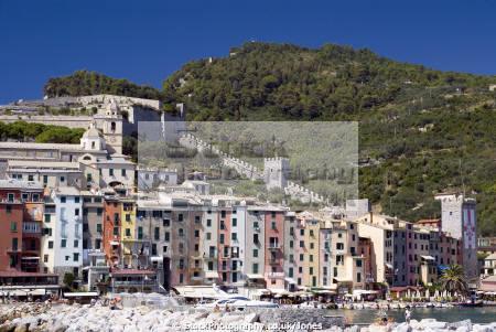 italy town portovenere near la spezia liguria italian european italia riviera cinque terre geology mediterranean italien italie