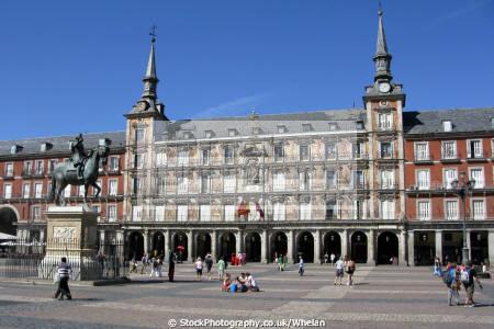 plaza mayor madrid spanish espana european spain spanien espa espagne la spagna