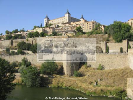 toledo alcazar high rio tajo spanish espana european spain spanien espa espagne la spagna