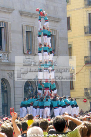human tower la merce festival catalunya catalonia spanish espana european barcelona spain spanien espa espagne spagna