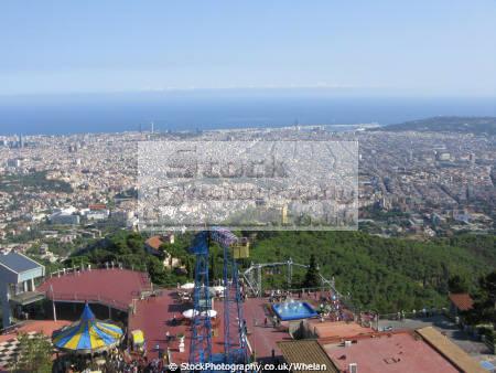 view barcelona tibidado catalunya catalonia spanish espana european spain spanien espa espagne la spagna