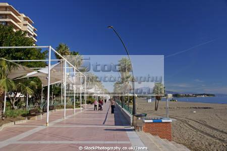 estepona costa del sol beach promenade winter mediterranean andalucia spanish espana european spain espagna andalusia laga malaga spanien espa espagne la spagna